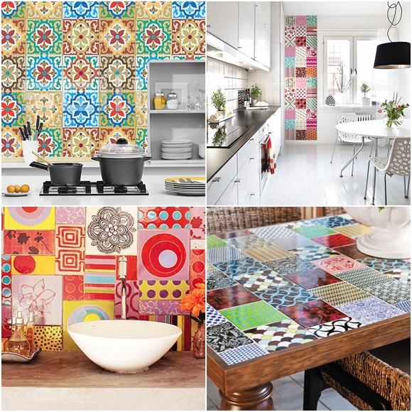 Adesivo para Azulejo  Falk Art e Decoração # Adesivo Em Azulejo De Cozinha