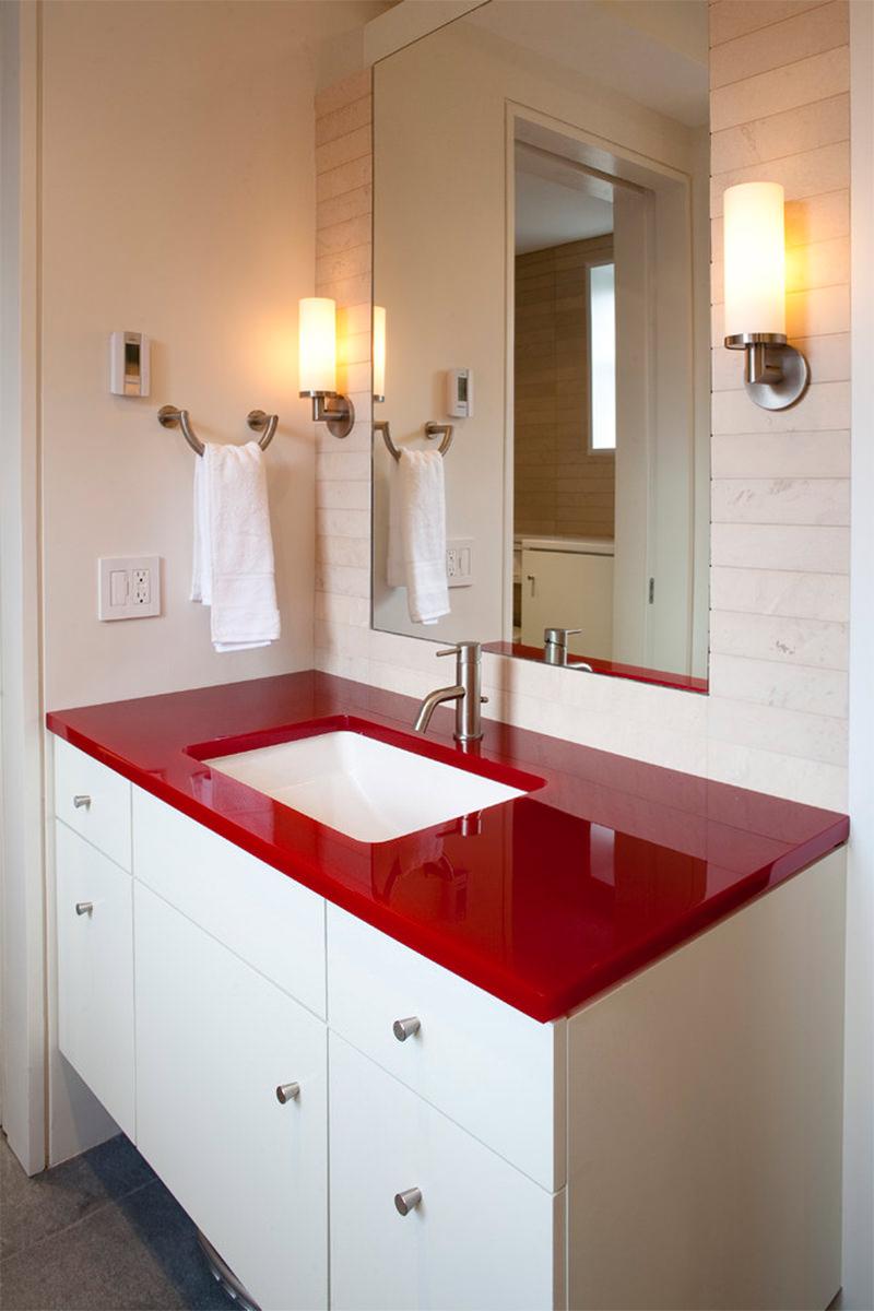 Banheiros Vermelhos  Falk Art e Decoração -> Banheiros Planejados Vermelho
