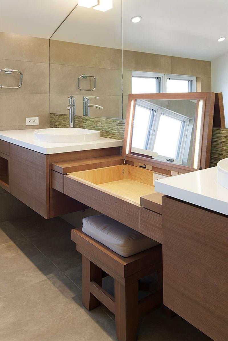 Inspira es para o banheiro e bancada de maquiagem falk - Coiffeuse salle de bain ...