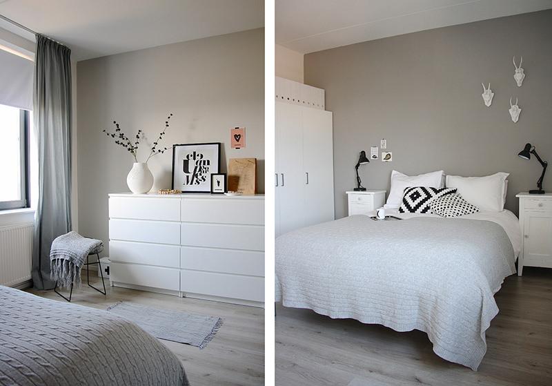 Cinza na decoração Falk Art e Decoração ~ Quartos Em Branco E Cinza