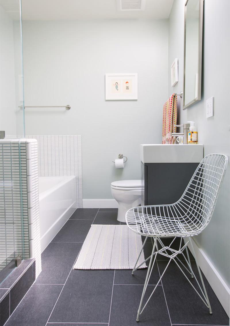 Banheiros brancos para se inspirar  Falk Art e Decoração -> Banheiro Pequeno Branco E Marron
