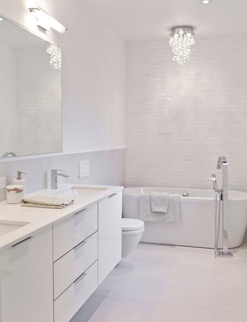 Banheiros brancos para se inspirar  Falk Art e Decoração -> Banheiro Bege E Branco Simples