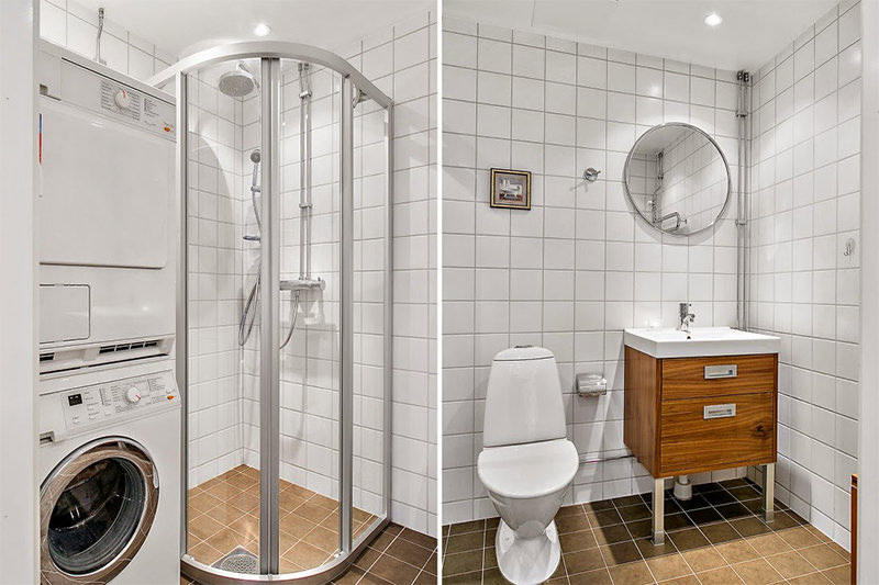 Kitnet de 27m²  Falk Art e Decoração -> Decoracao Banheiro Kitnet