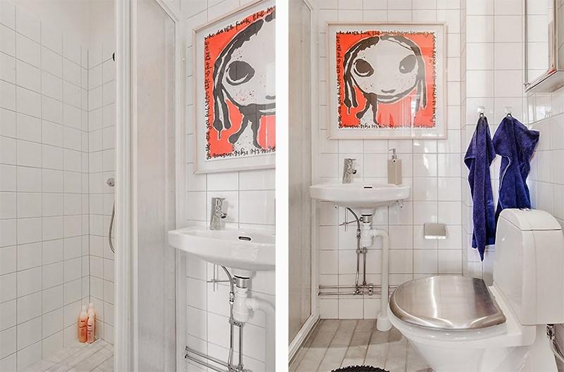 8kitnetestiloescandinavobanheiro -> Decoracao Banheiro Kitnet