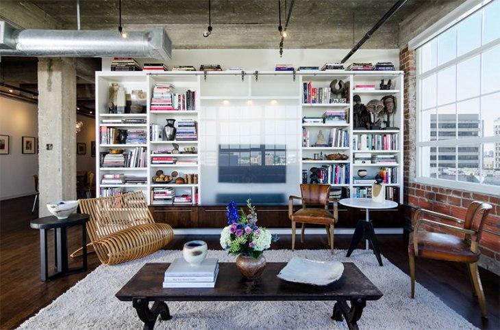 14-sala-tv-decorada-concreto-madeira-fios