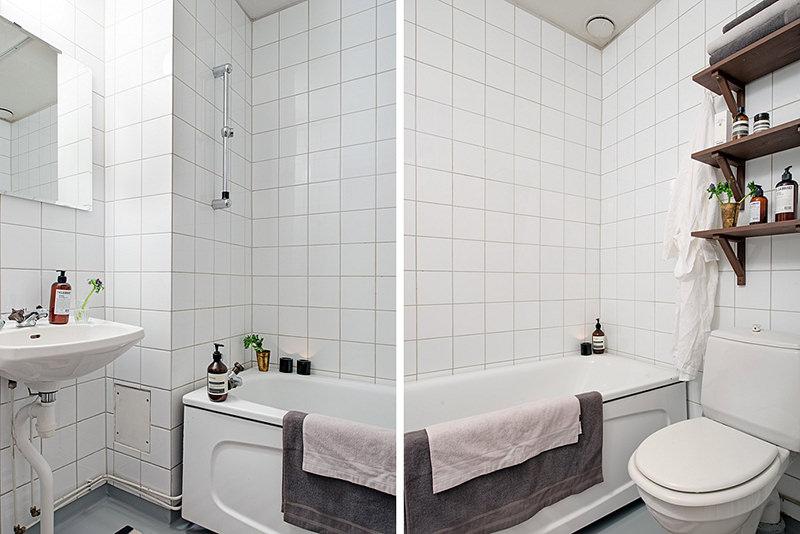 Inspirações para decorar banheiros pequenos  Falk Art e Decoração -> Banheiro Com Banheira Metragem