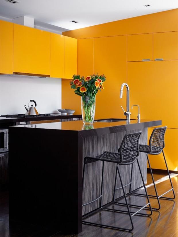 2-cozinha-amarela-armário´bancada-preta