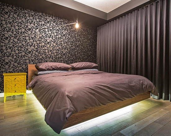 beautiful-bedroom-floating-bed-with-underbed-lamp-royal-avenue-project