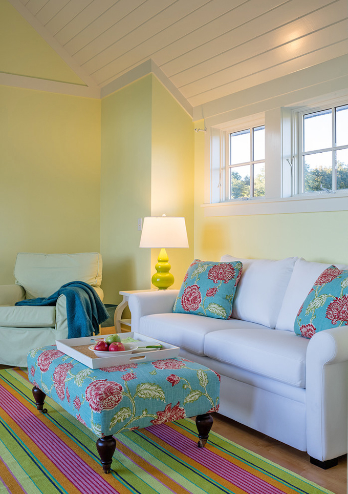 colorful family room