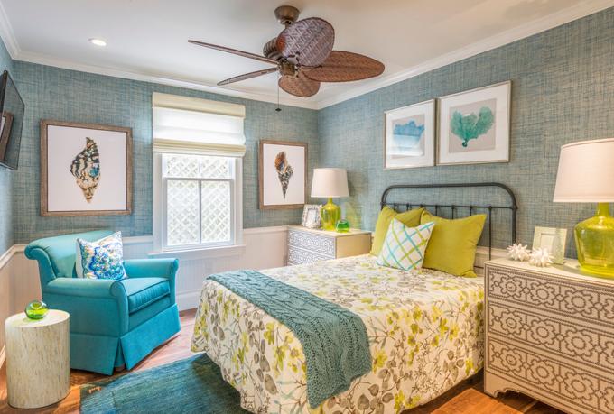 turquosie bedroom
