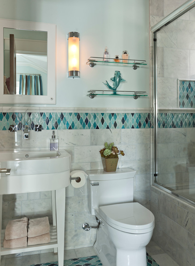 turquoise accent tile